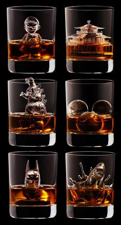 3D-printed ice cubes for japanese campaign of Suntory (whisky). http://3drocks.jp/