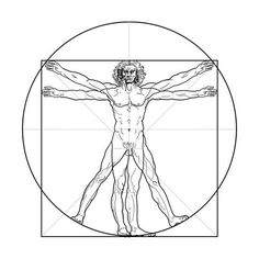 The vitruvian man vector 94736 - by Lazzardo on VectorStock® Neue Tattoos, Bad Tattoos, Sleeve Tattoos, Tattoos For Guys, Vitruvian Man Tattoo, Theme Tattoo, Man Vector, Detailed Tattoo, Arm Tattoo