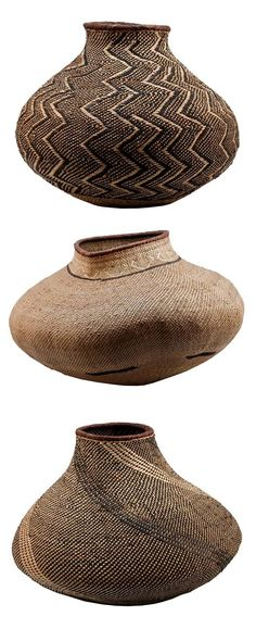 Africa, BaTonga Nongo (pot) baskets, Zimbabwe, Design Afrika ~ Made by hand African Design, African Art, African Interior, Handmade Home Decor, Tribal Art, Basket Weaving, House Styles, Inspiration, Vintage