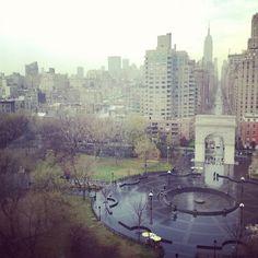 view of Washington Square Park on a rainy day - <3 <3 <3 - Nate and I LOved Washington Square Park!!