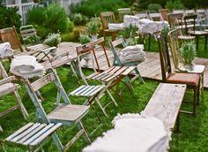 rustic garden chairs...@Shian Spaulding!:))