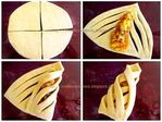 Cool way to wrap pastries Pastry Recipes, Dessert Recipes, Cooking Recipes, Pastry Design, Bread Art, Bread Shaping, Yummy Food, Tasty, Bread And Pastries