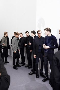 Men's Fashion Week backstage