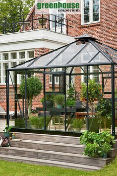 Do you want to combine a nice sunroom or enclosed pavilion with a greenhouse? The Juliana Oasis will be a great choice because you can pick the glass version. This way you can grow plants and set up a nice sitting arrangement inside. Outdoor Greenhouse, Cheap Greenhouse, Portable Greenhouse, Greenhouse Effect, Backyard Greenhouse, Greenhouse Wedding, Greenhouse Plans, Greenhouse Attached To House, Homemade Greenhouse