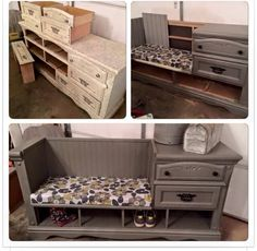 Entry Storage From Old Dresser