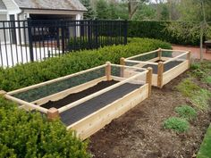 2 Two Raised Garden Beds with Rabbit Fencing
