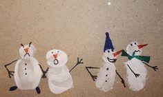 Fingerabdruck-Schneemänner