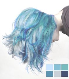 Mermaid Hair Color for Short Hair - Hair Style Pelo Multicolor, Coloured Hair, Colored Short Hair, Dye My Hair, Crazy Hair, Gorgeous Hair, Pretty Hairstyles, Mermaid Hairstyles, Blue Hairstyles