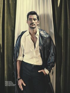 David Gandy on the cover of L'Officiel Hommes Suisse. In this retro chic ode to the styles of the 1970's, David shows that he would be a star in any decade. Photography/Art Direction by Olivier Yoan