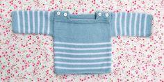 Patron gratuit: un pull brassière pour bébé