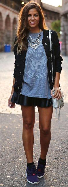 blue shirt   skirt