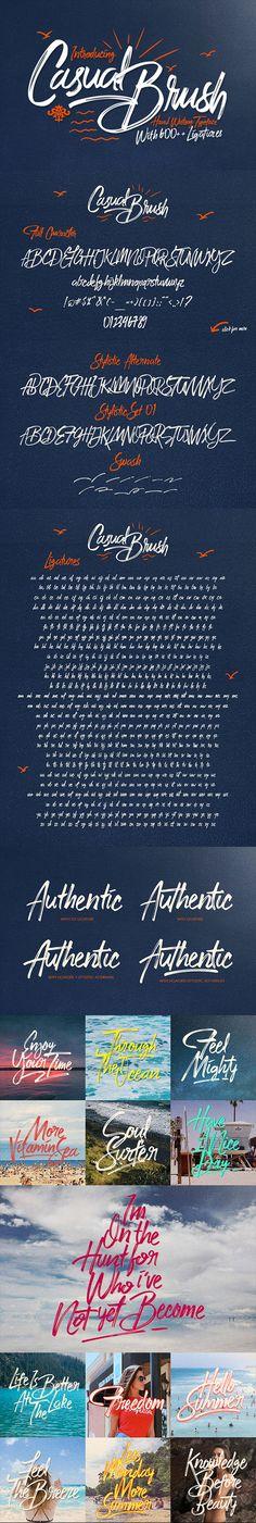 Casual Brush - Hand-writing Script
