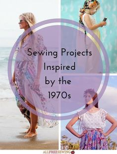 No decade has been trending on runways as much as the 70s and it's easy to understand why. The 70s was one of the most interesting and most complex fashion decades around. Our list of sewing projects inspired by the 1970s is absolutely perfect for yo