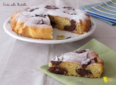 Torta alla nutella (ricetta dolce veloce) - Torta facile con impasto soffice e nutella che rimane morbida dopo la cottura (anche senza glutine)