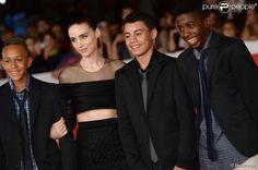 """Rickson Tevez, Rooney Mara, Gabriel Weinstei, Eduardo Luis - Première du film """"Trash"""" au festival du film de Rome le 18 octobre 2014."""