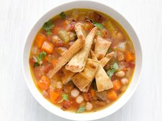 Chickpea Soup with Spiced Pita Chips Recipe : Food Network Kitchen : Food Network - FoodNetwork.com