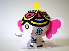 Love Through Design Branding: Paper Toys by Clooci Studios , via Behance