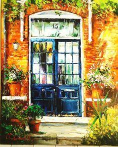 edwardian-doors-muswell-hill.jpg [Edwardian Doors Muswell Hill (2009) - 78 x 63 Original Oil on Canvas, 31 x 24 Giclee on Canvas] Gleb Goloubetski