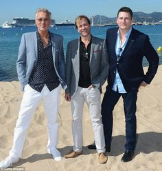 Cannes 2014.  Eighties legends: Bassist Martin Kemp joins his band-mates for the photo-call in picturesque Cannes on Friday