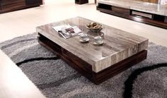 Simple Elegant For Coffee Table Design Coffee Table Design, Grey Wood Coffee Table, Made Coffee Table, Marble Top Coffee Table, Rustic Coffee Tables, Cool Coffee Tables, Coffee Table With Storage, Centre Table Living Room, My Living Room