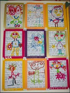recycled newspaper crafts « Preschool and Homeschool Kindergarten Art, Preschool Art, Classe D'art, Ecole Art, Art Classroom, Art Plastique, Elementary Art, Teaching Art, Pre School