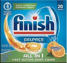 Finish Gelpacs Dishwasher Detergent, All in Orange, 25 Tablets, Fast Action Deep Clean Best Dishwasher Detergent, Dishwasher Tablets, Dish Detergent, Dishwashing Gloves, Dishwashing Liquid, Co Marketing, Cleaning Chemicals, Cleaning Products, Cleaning Items