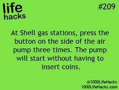 Life hacks ... hmmmm ... wonder if this really works ... need to air up my tires so will give it a try LOL !!!
