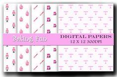 Digital paper pack - Baby Girls - Scrapbooking and Craft digital paper - Instant download