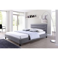 You'll love the Baxton Studio Upholstered Platform Bed at AllModern - With Great Deals on modern Bedroom  products and Free Shipping on most stuff, even the big stuff.