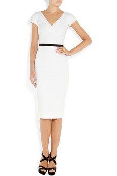 victoria beckham white dress