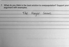 Funny test answers #rose, this is exactly Rose
