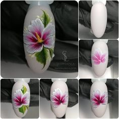 Пошаговый маникюр | Уроки дизайна ногтей Uñas One Stroke, One Stroke Nails, Summer Toe Nails, Spring Nails, Nail Art Fleur, Nail Drawing, Flower Nail Designs, Pedicure Designs, Nail Art Techniques
