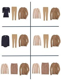 Packing with Four by Four: Navy, Tan and Coral