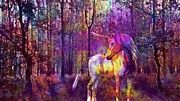 "New artwork for sale! - "" Unicorn Forest Fairy Tales Mystical by PixBreak Art "" - http://ift.tt/2vqvft4"
