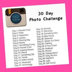 Another Instagram challenge