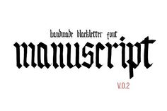 Handmade blackletter font by Supermne on @creativemarket