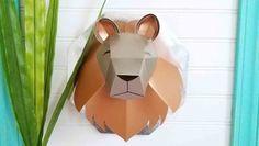 3D Lion Head Cricut Design, Appreciation, My Design, Lion, My Arts, 3d, Projects, Log Projects, Leo