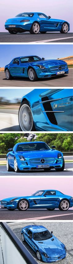 The world's most powerful (and expensive) electric production car: Mercedes-Benz SLS AMG Electric Drive. Click for the future... #electric #spon