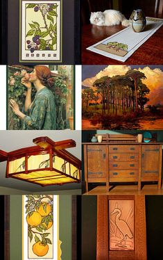 Love of the Arts and Crafts Movement by allan elliott on Etsy--Pinned with TreasuryPin.com | Craftsman | Bungalow | Lighting | Copper | Yoshiko Yamamoto | Jan Schmuckal | Natalie Richards