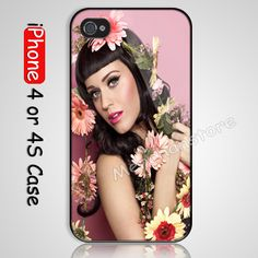 Katy Perry stocking filler Custom iPhone 4 or 4S Case Cover, #iphonecase #iphone4case #4scase #hardcase #case #cover #accessories