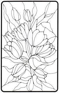 Vitral De Flores Desenho Vitral Pintura Para Vidro E Flores De