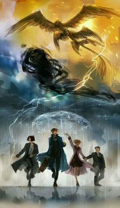 """""""New York is considerably more interesting than I expected."""" Newt, Tina, Queenie & Jacob - Fantastic Beasts and Where to Find Them Wizarding World Harry Potter Anime, Harry Potter World, Harry James Potter, Harry Potter Universal, Harry Potter Fandom, Harry Potter Movies, Estilo Harry Potter, Arte Do Harry Potter, Wallpaper Harry Potter"""