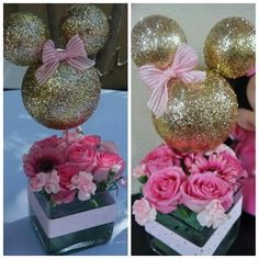 Created by Photo Grid.  Android minni mouse party centerpieces gold and pink minnie mouse themed party #minniemousecenterpieces #goldandpinkminniemouse https://play.google.com/store/apps/details?id=com.roidapp.photogrid  iPhone  https://itunes.apple.com/us/app/photo-grid-collage-maker/id543577420?mt=8