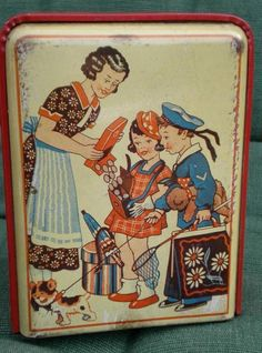 VINTAGE - AND RARE - PICTORIAL - AUTOMATIC COUNTING - MONEYBOX TIN C.1920'S?