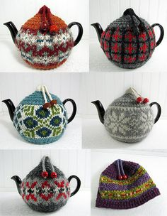Ski Sweater Teapot Cozy by rarerabbitsdesigns on Etsy, $30.00