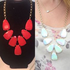 Red Kendra Scott Harlow I'm looking to TRADE my bright red Harlow for a white iridescent Harlie! I'm not selling my Harlow Kendra Scott Jewelry Necklaces