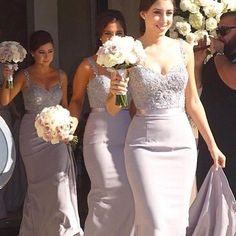 Mermaid Lace Top Sweetheart Long Elegant Wedding Bridesmaid Dresses, WG360