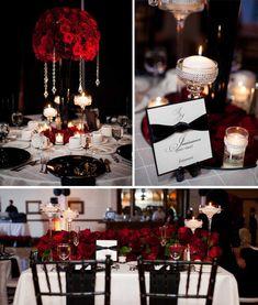 boda negro y rojo - Perfecto para una boda
