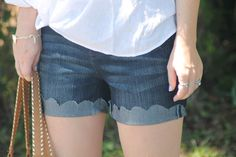 DIY Scalloped Cut Offs In Under 10 mins