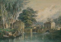 Léon SOULIE, (Toulouse, 1804 - Toulouse, 1862), L'Ecluse Bayard à Toulouse,  1824-1862, Inv. RO 607. Non exposée. © Toulouse, musée des Augustins – Photo STC - Mairie de Toulouse